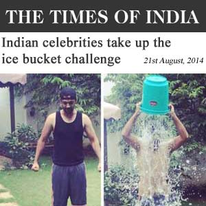 Indian celebrities take up the ice bucket challenge