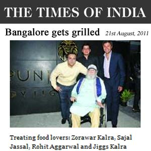 Times of India - Bangalore gets grilled