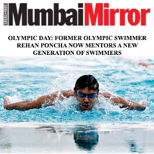 Olympic Day: Former Olympic Swimmer Rehan Poncha Now Mentors A New Generation Of Swimmers