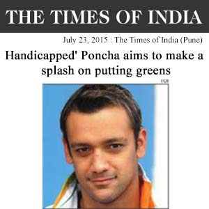 Handicapped' Poncha aims to make a splash on putting greens