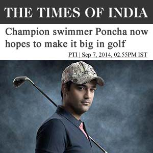 Champion Swimmer Poncha now hopes to make it big in Golf
